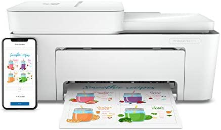 HP DeskJet Plus 4155 Wireless All-in-One Printer, Mobile Print, Scan & Copy, HP Instant Ink Ready, Auto Document Feeder, Works with Alexa (3XV13A)