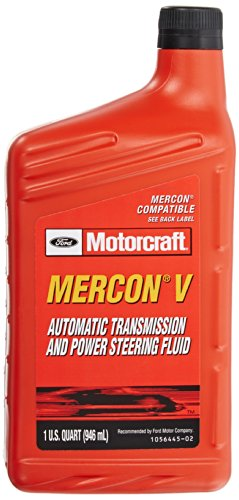 Genuine Ford XT-5-QM MERCON-V Automatic Transmission and Power Steering Fluid - 1 Quart