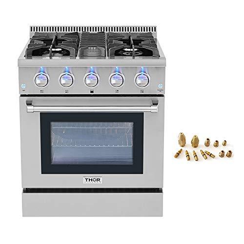 30' Thor Kitchen Free Standing 4 burner gas range + LP Conversion Kit bundle
