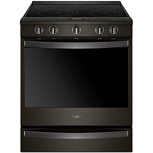 Whirlpool WEE750H0HV 6.4 Cu. Ft. Black Stainless Electric Convection Range