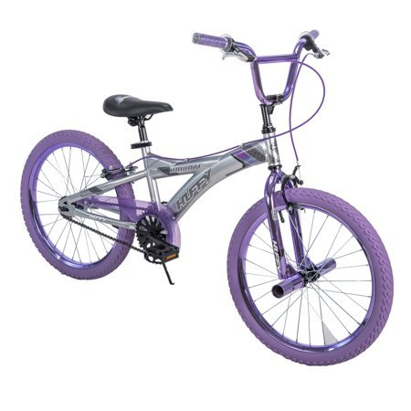 Huffy 20' Radium Girls' Metaloid BMX Bike, Silver with Purple Chrome