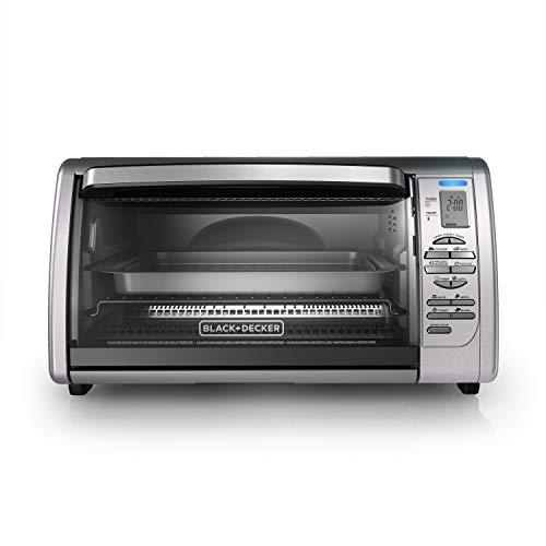 BLACK DECKER Countertop Convection Toaster Oven, Silver, CTO6335S