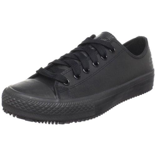 Skechers for Work Women's Gibson-Hardwood Slip-Resistant Sneaker, Black, 9 M US