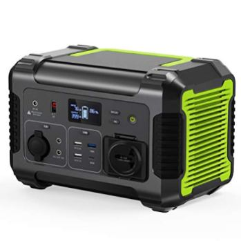 Ship-from-USARockman-500W-Portable-Power-Station-519Wh-Camping-Backup-Lithium-Battery-with-110V-Pure-Sine-Wave-AC-Outlet-QC-30-USB-PortType-C-PD-Port-12V24V-DC-Outdoor-Solar-Generator