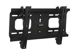 Mount-It! Low-Profile Tilting TV Wall Mount Bracket for 32 to 55 inch LCD, LED, OLED, 4K or Plasma Flat Screen TVs Certified 165 Lbs Load Capacity, 1.8 Inch Profile, Max VESA 400x200, Black (MI-368S/PLB42)