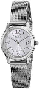 Timex Women's T2P457 Casey Dress Silver-Tone Stainless Steel Mesh Bracelet Watch