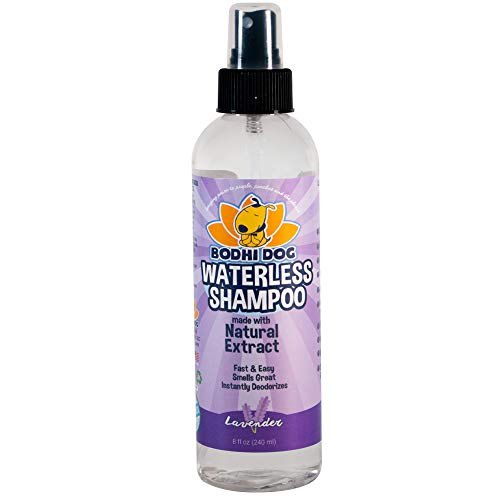 New Waterless Dog Shampoo | All Natural Dry Shampoo for Dogs or Cats No Rinse Required | 100% Non-Toxic with Natural Extract | Professional Grade Treatment - Made in USA - 1 Bottle 8oz (240ml)