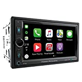 POWER ACOUSTIK CP-650 Double DIN Bluetooth in-Dash Digital Media Car Stereo Receiver with Touchscreen, Apple CarPlay, 6.5'