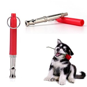 ZDCDEALS 002 Professional Ultrasonic Dog Training Whistle to Stop Barking Adjustable Pitch Ultrasonic Training Tool Silent Bark Control for Dogs with Free Lanyard Strap-, Red