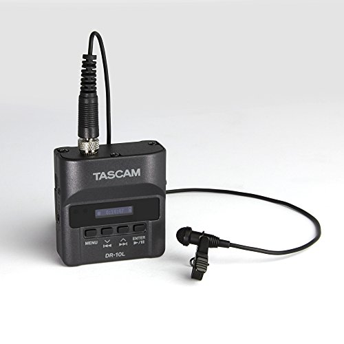 Tascam DR-10L Portable Digital Audio Recorder with Lavalier Microphone