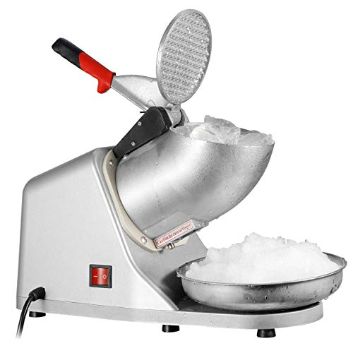 ZENY Ice Shaver Machine Electric Snow Cone Maker Stainless Steel Shaved Ice Machine 145lbs Per Hour