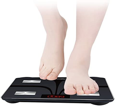 ABYON Bluetooth Smart Bathroom Scales for Body Weight Digital Body Fat Scale,Auto Monitor Body Weight,Fat,BMI,Water, BMR, Muscle Mass with Smartphone APP,Fitness Health Scale 5