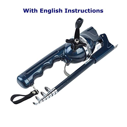 BLISSWILL Fishing Gear Pocket Fishing Rod Rod & Reel Combos Telescopic Rod Compatible Integrated Fishing Rod with Fishing Line Portable Fish Rod Saltwater and Freshwater Fishing Rods