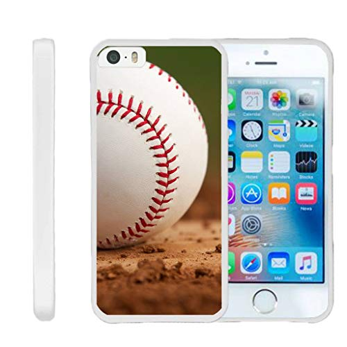 TurtleArmor | Compatible for Apple iPhone SE Case | iPhone 5/5s Case [Flexible Armor] Resistant Slim Fitted Flexible TPU Case Soft Bumper Cover Sports and Games Design - Baseball Dirt
