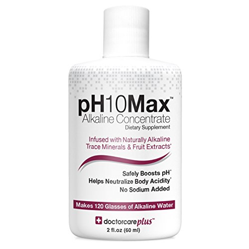 pH10Max Alkaline Water Drops 2 oz.| Infused with Natural Alkaline Trace Minerals & Fruit Extracts | Electrolyte pH Booster | Helps Neutralize Acidity (Watermelon Lime)