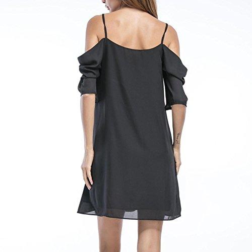 4ed7f6745752f Là Vestmon Women s Summer Short Chiffon Dress Sexy Cold-Shoulder ...