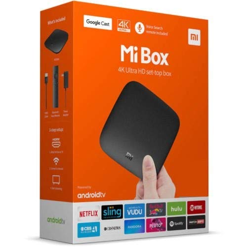 Original Xiaomi Mi Box - 4K Ultra HDR TV Streaming Media Player with Voice Search Remote (MDZ-16-AB) International Version