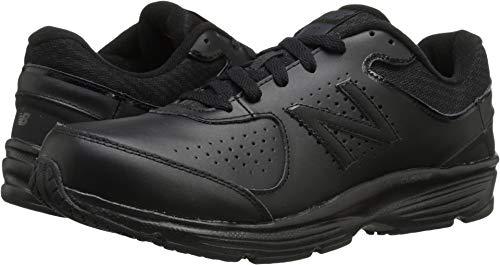 New Balance Men's MW411v2 Walking Shoe,  Black, 9.5 M US