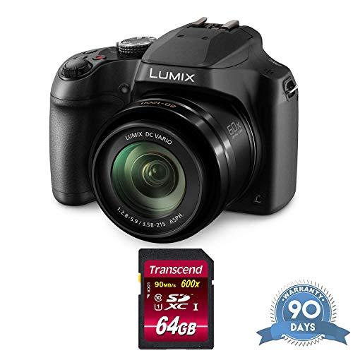 Panasonic Lumix DC-FZ80 Digital Camera with Memory Card – (Renewed)