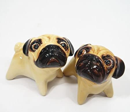 Bug Eyed Pug Salt and Pepper Shakers