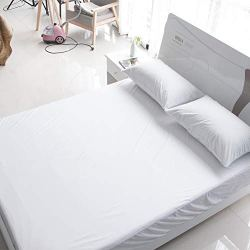 EXCER RFTA Premium Mattress Protector Cotton Terry Surface, Hypoallergenic, Waterproof, Dust Mite Proof Mattress Cover (Queen)