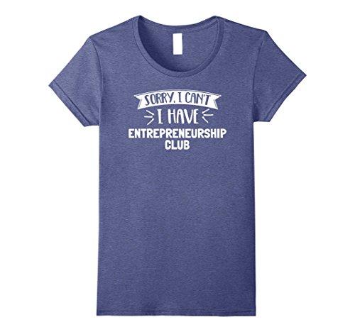 Womens Entrepreneurship Club T-Shirt for Girls, Women, Boys & Men Small Heather Blue
