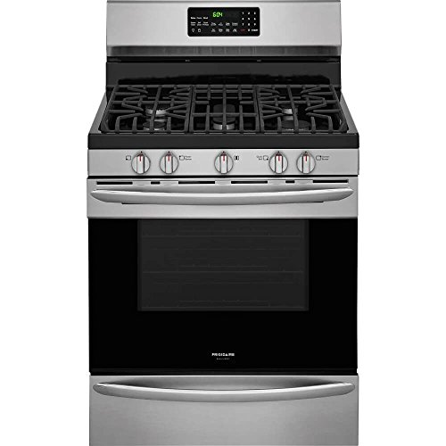 Frigidaire FGGF3059TF Gallery Series 30 Inch Freestanding Gas Range with Sealed Burner Cooktop, 5 cu. ft. Primary Oven Capacity, in Stainless Steel