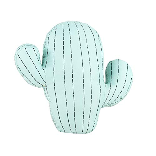 Alapaste Lovely Cactus Shaped Throw Pillows Soft Short Plush Back Cushion Cartoon Sofa Decorative Pillow Kids Stuffed Toy Doll Waist Rest Cushion for Bedroom Office
