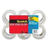 Scotch Heavy Duty Shipping Packaging Tape, 3' Core, 1.88' x 54.6 Yards, 6-Rolls (3850-6)