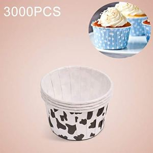 JIXIAO Mold 3000 PCS Cow Spot Pattern Round Lamination Cake Cup Muffin Cases Chocolate Cupcake Liner Baking Cup, Size: 6.8 x 5 x 3.9cm 41n3JvqBntL