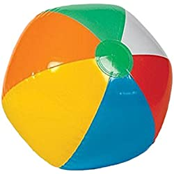 Inflatable Rainbow Color Beach Balls (12 Pack)