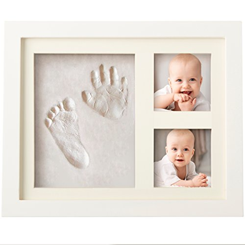 BEST BABY HAND & FOOTPRINT PICTURE FRAME KIT for Boys and Girls, Cool &