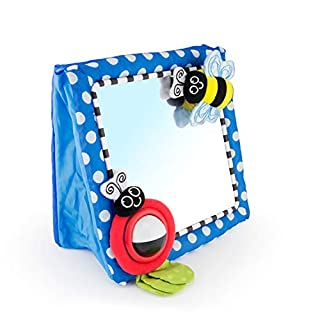 Encourage baby to focus on a human face with the large true-reflection mirror. The attached symmetrical butterfly inspires vision and encourages tactile exploration. The high contrast ladybug and tracker ball aids in the development of baby's visual ...