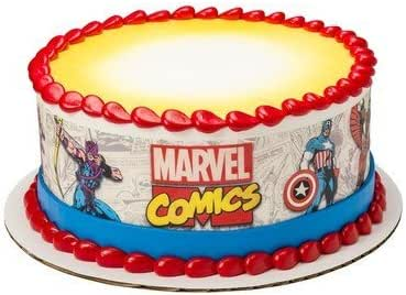 Marvel Comics Comic Strip tiras de Cake con licencia
