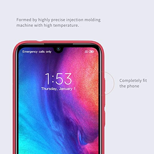Nillkin Case for Xiaomi Redmi Note 7 Super Frosted Hard Back Cover Hard PC Red Color 6