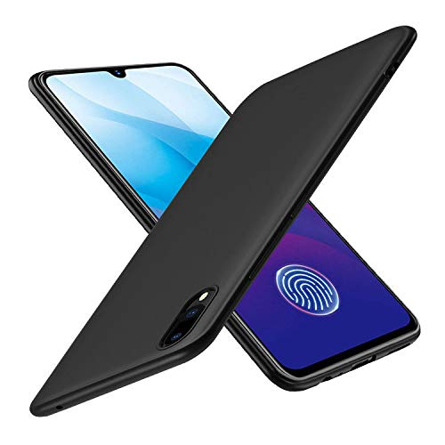 Prime Retail Plain Flexible Pudding Back Cover for Vivo Y91i - Matte Black Case 117
