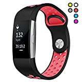 Compatible for Fitbit Charge 2 HR Bands Replacement Sport Band for Fitbit Charge2 Pink Small