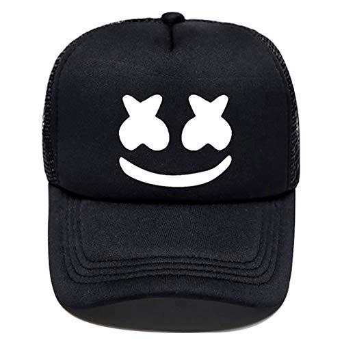 Fushimuma Adult Youth Boys Girls Marshmello Hat DJ Rock Hip Hop Cap Baseball Cap