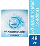 K-Y Me & You Extra Lubricated Ultra Thin Latex Condoms- Extra Water Based Lube For Comfort and Smoothness, Reservoir Tip, HSA Eligible, 48 Count