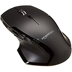 AmazonBasics Full-Size Ergonomic Wireless PC Mouse with Fast Scrolling