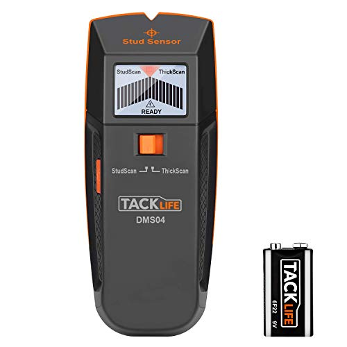 Stud Finder Wall Scanner, 3 in 1 Edge Finding Electronic Wall Detector Finders with Sound Warning, Two Scan Modes for Wood Stud/Metal/Live AC Wire Detection - DMS04