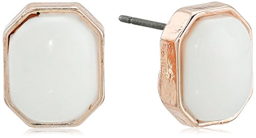 41ndl7C68HL small cabachon stone stud earring rose gold tone finish with white stone