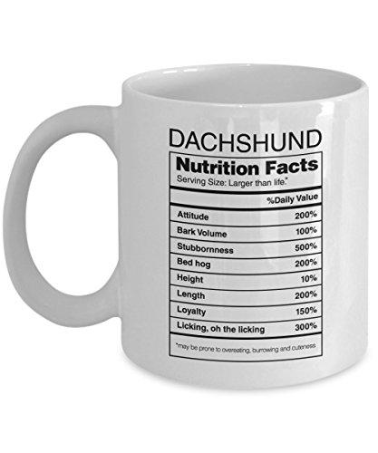 Doxie Got Moxie - Dachshund Gifts Nutrition Facts - Weiner Dog Coffee Mug