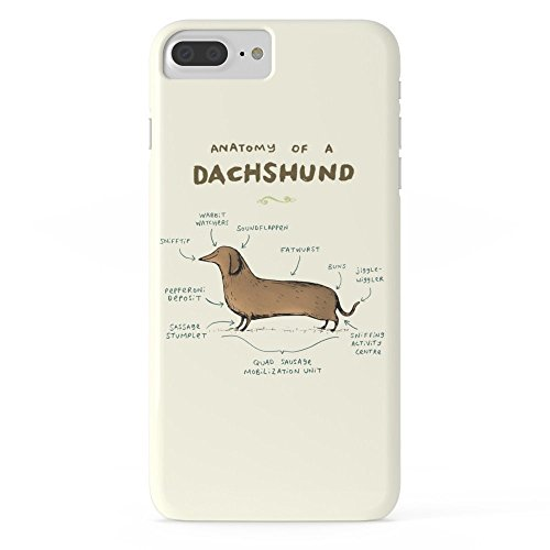 Phone Case Protectivedesign Cell Case Anatomy Of A Dachshund Slim Case for iPhone 7 Plus