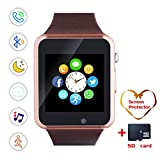 Smartwatch, Bluetooth Smart Watch and Cell Phone Watch with Card SIot Bluetooth Call\Camera\Music Player Watch Compatible for Android and iOS Phones Women and Men