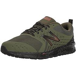 New Balance Men's Nitrel v1 FuelCore Trail Running Shoe, Dark Covert Green, 11.5 4E US