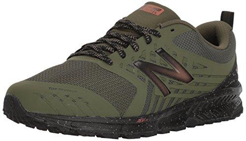 New Balance Men's Nitrel v1 FuelCore Trail Running Shoe, Dark Covert Green, 8.5 4E US