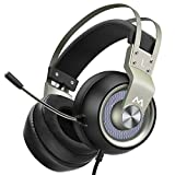Mpow Pro Gaming Headset (2019 All-Platform Edition), with Mic, 50mm Speaker Driver, 3D Surround Sound, in-Line Control, LED Light, PC PS4 Gaming Headset, Nintendo Switch 64 3.5mm Gaming Headphones