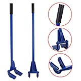 Yaheetech Pallet Buster Tool Pallet Pry Bar Gear Pry Bar Rack - Pallet Breaker Deck Wrecker Demolition Crowbar 44in Blue