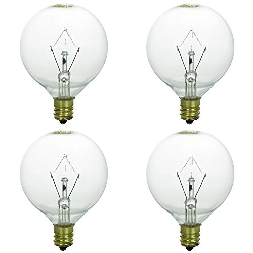 25 Watt Bulbs for Scentsy Full-Size Warmers, KE-25WLITE Extra Long Life Bulb, 25W 120 Volt, Pack of 4